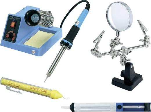 Lötstation Set analog 48 W Basetech ZD-99 +150 bis +450 °C inkl. Dritte Hand, inkl. Lötzinn