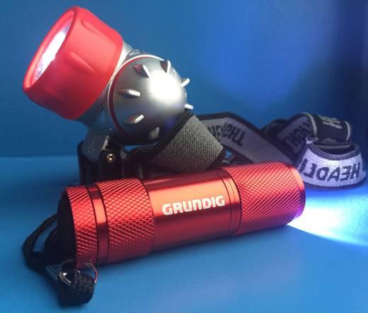 Grundig LED Taschenlampe, Stirnlampe mit Handschlaufe