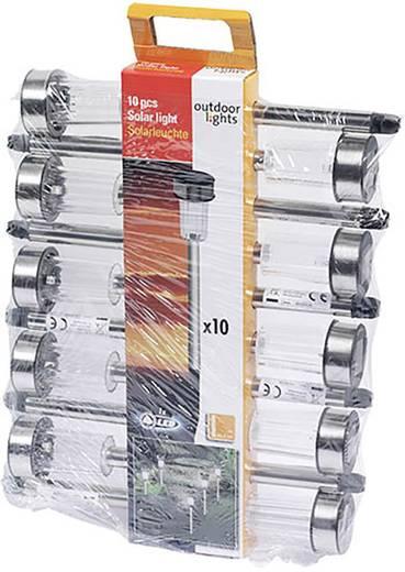 Outdoor Lights Solar-Gartenleuchte 10er Set LED Kalt-Weiß Silber