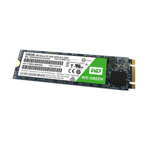 Interne SATA M.2 SSD 2280 240 GB Western Digital Green™ WDS240G1G0B