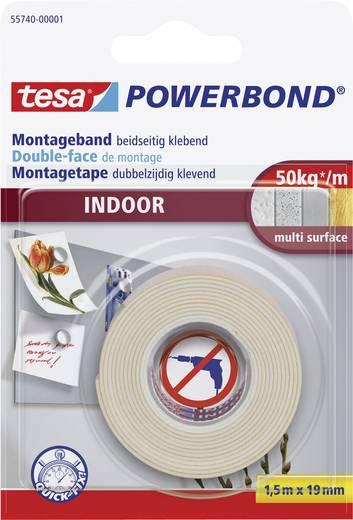 Montageband tesa tesa® POWERBOND Weiß (L x B) 1.5 m x 19 mm Kautschuk Inhalt: 1 Rolle(n)