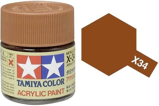 Tamiya 81034 Acrylfarbe Metallic-Braun (glänzend) Farbcode: X-34 Glasbehälter 23 ml