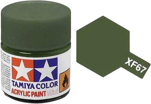Tamiya 81367 Acrylfarbe Nato-Grün Farbcode: XF-67 Glasbehälter 23 ml