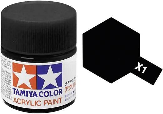 Tamiya Acrylfarbe Schwarz glänzend Farb-Code: X-01 Glasbehälter 10 ml
