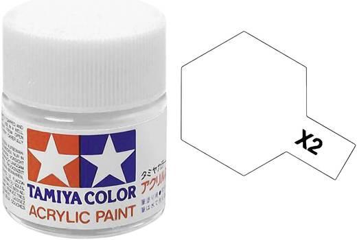 Tamiya 81002 Acrylfarbe Weiß (glänzend) Farbcode: X-2 Glasbehälter 23 ml