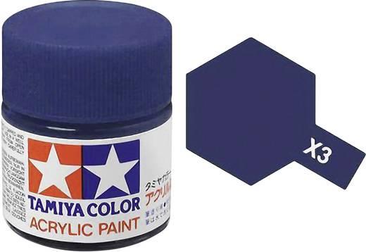 Tamiya 81003 Acrylfarbe Königsblau (glänzend) Farbcode: X-3 Glasbehälter 23 ml