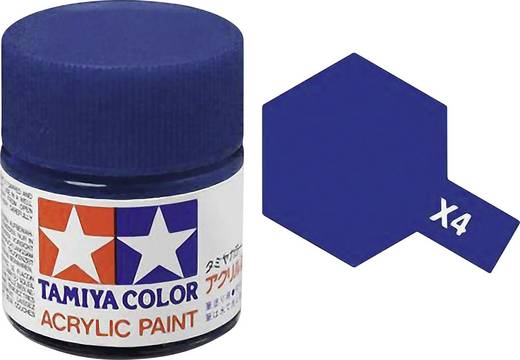 Tamiya 81004 Acrylfarbe Blau (glänzend) Farbcode: X-4 Glasbehälter 23 ml