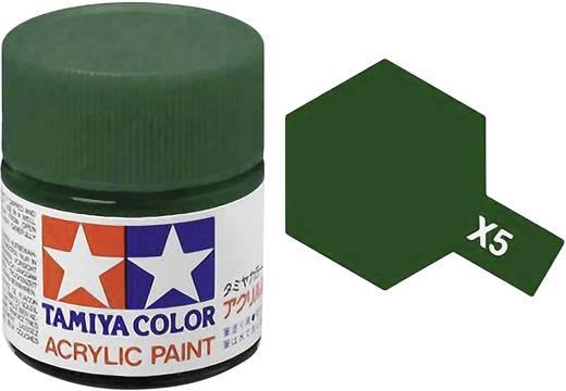 Tamiya 81005 Acrylfarbe Grün (glänzend) Farbcode: X-5 Glasbehälter 23 ml