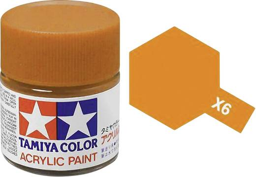 Tamiya Acrylfarbe Orange glänzend Glasbehälter 10 ml