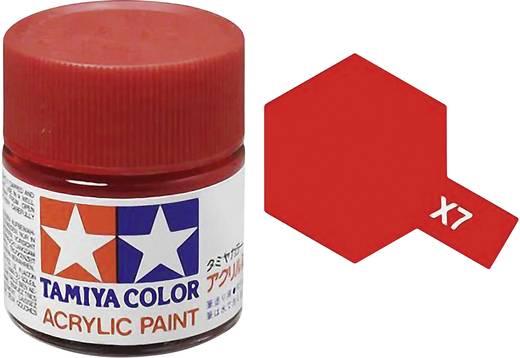 Tamiya 81007 Acrylfarbe Rot (glänzend) Farbcode: X-7 Glasbehälter 23 ml