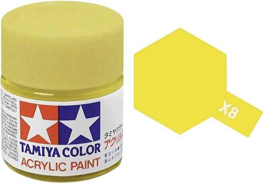 Tamiya 81008 Acrylfarbe Zitronengelb (glänzend) Farbcode: X-8 Glasbehälter 23 ml