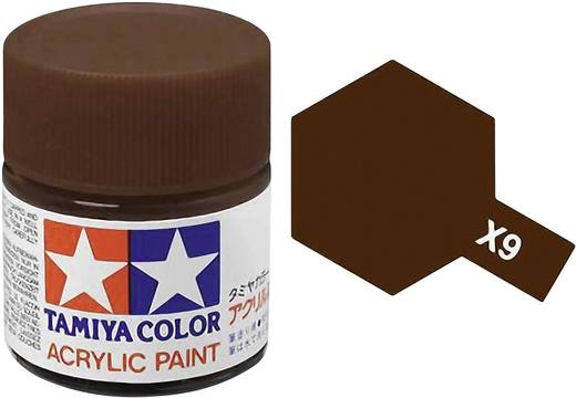 Tamiya 81009 Acrylfarbe Braun Farbcode: X-9 Glasbehälter 23 ml