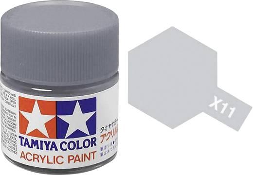 Acrylfarbe Tamiya Chrom-Silber (glänzend) Glasbehälter 23 ml