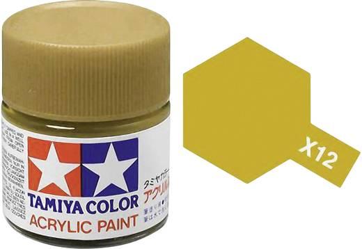 Tamiya 81012 Acrylfarbe Blattgold (glänzend) Farbcode: X-12 Glasbehälter 23 ml