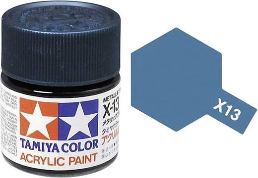 Tamiya 81013 Acrylfarbe Metallic-Blau (glänzend) Farbcode: X-13 Glasbehälter 23 ml