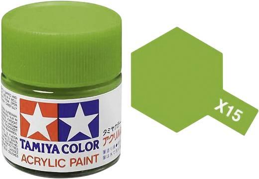 Tamiya 81015 Acrylfarbe Hellgrün (glänzend) Farbcode: X-15 Glasbehälter 23 ml