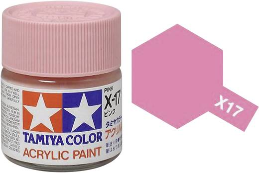 Tamiya 81017 Acrylfarbe Rosa Farbcode: X-17 Glasbehälter 23 ml