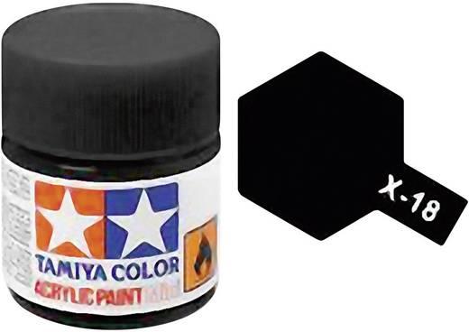 Tamiya Acrylfarbe Schwarz (seidenmatt) glänzend Glasbehälter 10 ml
