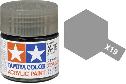 Tamiya 81019 Acrylfarbe Rauch Farbcode: X-19 Glasbehälter 23 ml