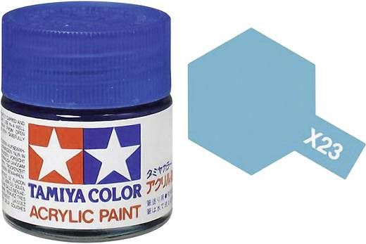 Tamiya Acrylfarbe Blau (klar) glänzend Glasbehälter 10 ml