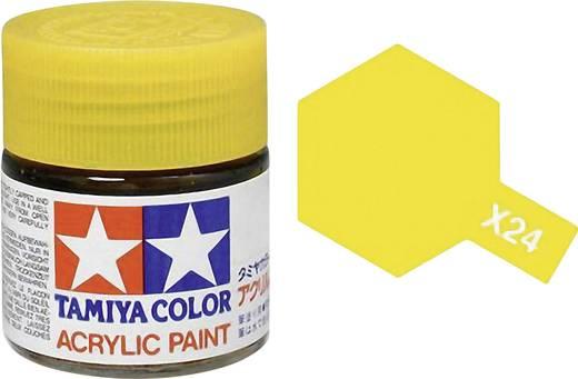 Tamiya 81024 Acrylfarbe Klar-Gelb (glänzend) Farbcode: X-24 Glasbehälter 23 ml