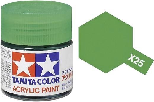 Tamiya 81025 Acrylfarbe Grün (klar) Farbcode: X-25 Glasbehälter 23 ml
