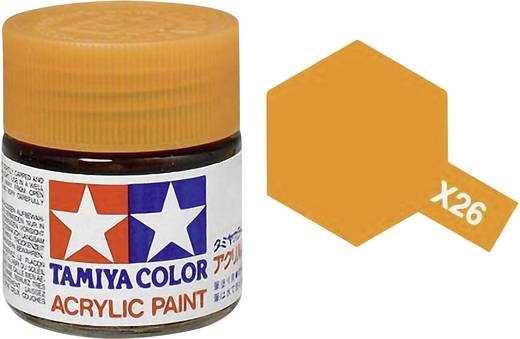 Tamiya 81026 Acrylfarbe Klar-Orange (glänzend) Farbcode: X-26 Glasbehälter 23 ml