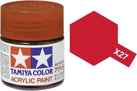Tamiya Acrylfarbe Rot (klar) glänzend Glasbehälter 10 ml