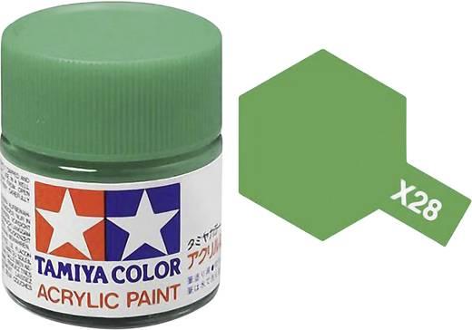Tamiya 81028 Acrylfarbe Park-Grün (glänzend) Farbcode: X-28 Glasbehälter 23 ml
