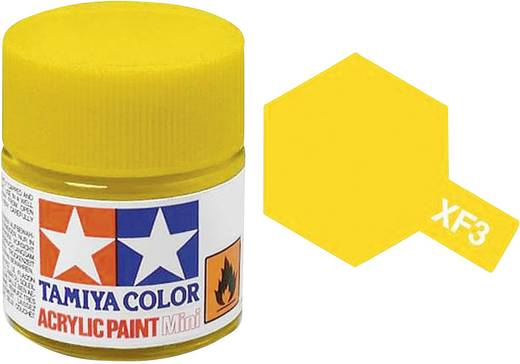Tamiya Acrylfarbe Gelb (matt) Farb-Code: XF-03 Glasbehälter 10 ml