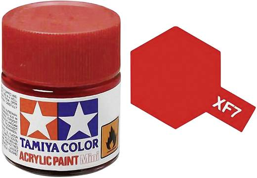 Tamiya Acrylfarbe Rot matt Farb-Code: XF-07 Glasbehälter 10 ml