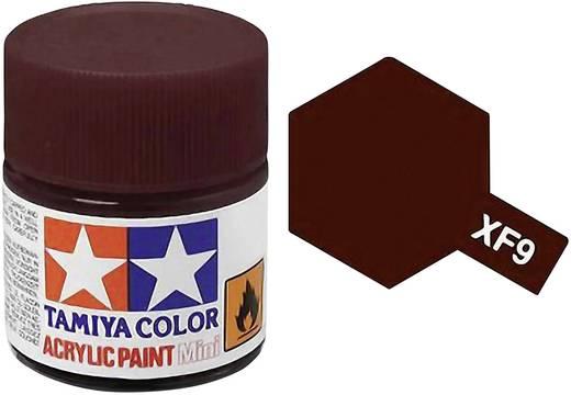 Tamiya 81309 Acrylfarbe Hull-Rot Farbcode: XF-9 Glasbehälter 23 ml