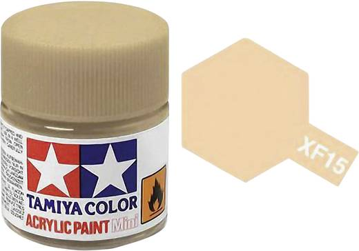 Tamiya Acrylfarbe Haut-Farbe (matt) Farb-Code: XF-15 Glasbehälter 10 ml