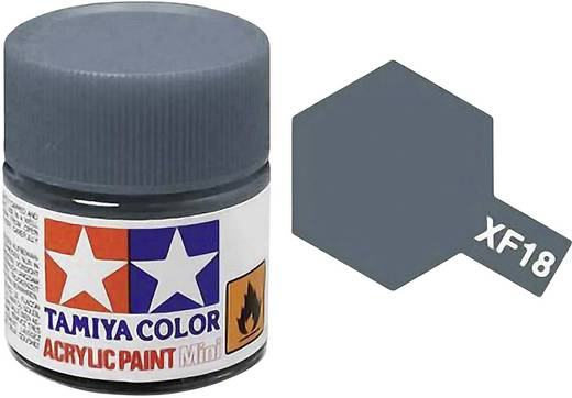 Tamiya Acrylfarbe Mittel-Grau (matt) Farb-Code: XF-18 Glasbehälter 10 ml