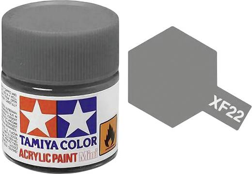 Tamiya 81322 Acrylfarbe Grau (RLM 02) Farbcode: XF-22 Glasbehälter 23 ml