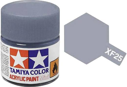 Tamiya 81325 Acrylfarbe Hell-See-Grau Farbcode: XF-25 Glasbehälter 23 ml