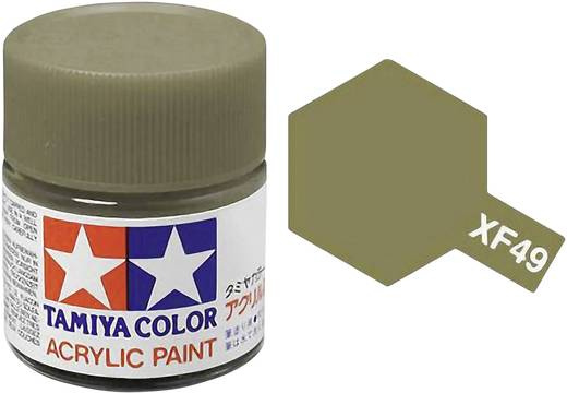 Tamiya 81349 Acrylfarbe Khaki Farbcode: XF-49 Glasbehälter 23 ml