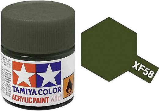 Tamiya Acrylfarbe Olive-Grün matt Farb-Code: XF-58 Glasbehälter 10 ml