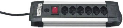 Brennenstuhl 1391002016 Steckdosenleiste mit Schalter 6fach Schwarz/Silber CH-Stecker