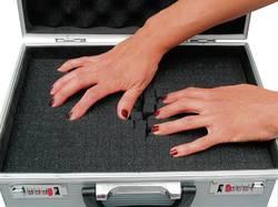 Hliníkový kufr s pěnovou výplní Viso STC961P, 520 x 280 x 100 mm