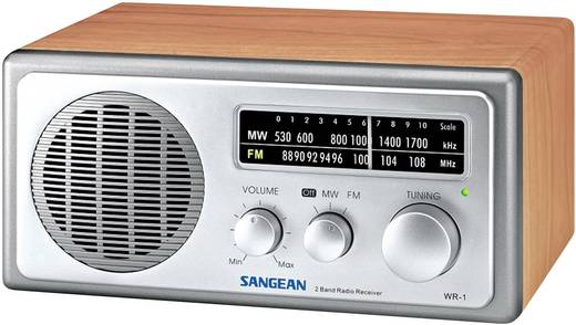 Sangean WR-1 Walnuss UKW Tischradio MW, UKW Holz