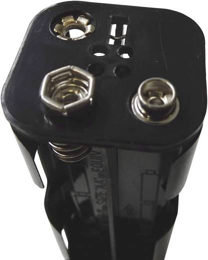 Velleman BH382B Batteriehalter 8x Mignon (AA) Druckknopfanschluss (L x B x H) 108.5 x 31.5 x 29.5 mm
