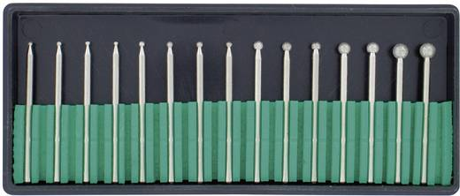 15tlg. Diamant-Frässtifte-Set Kugel 450903 Schaft-Ø 2,35 mm