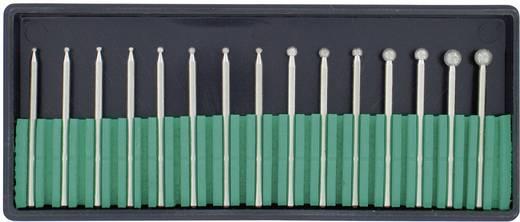 15tlg. Diamant-Frässtifte-Set Kugel RONA 450903 Schaft-Ø 2,35 mm