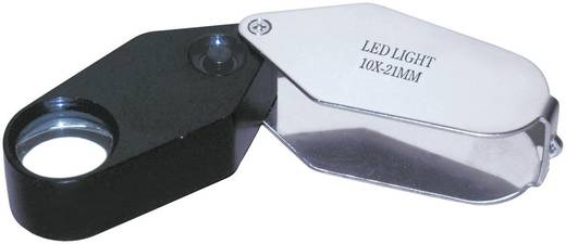 Einschlaglupe mit LED-Beleuchtung Vergrößerungsfaktor: 10 x Linsengröße: (Ø) 21 mm RONA 450515