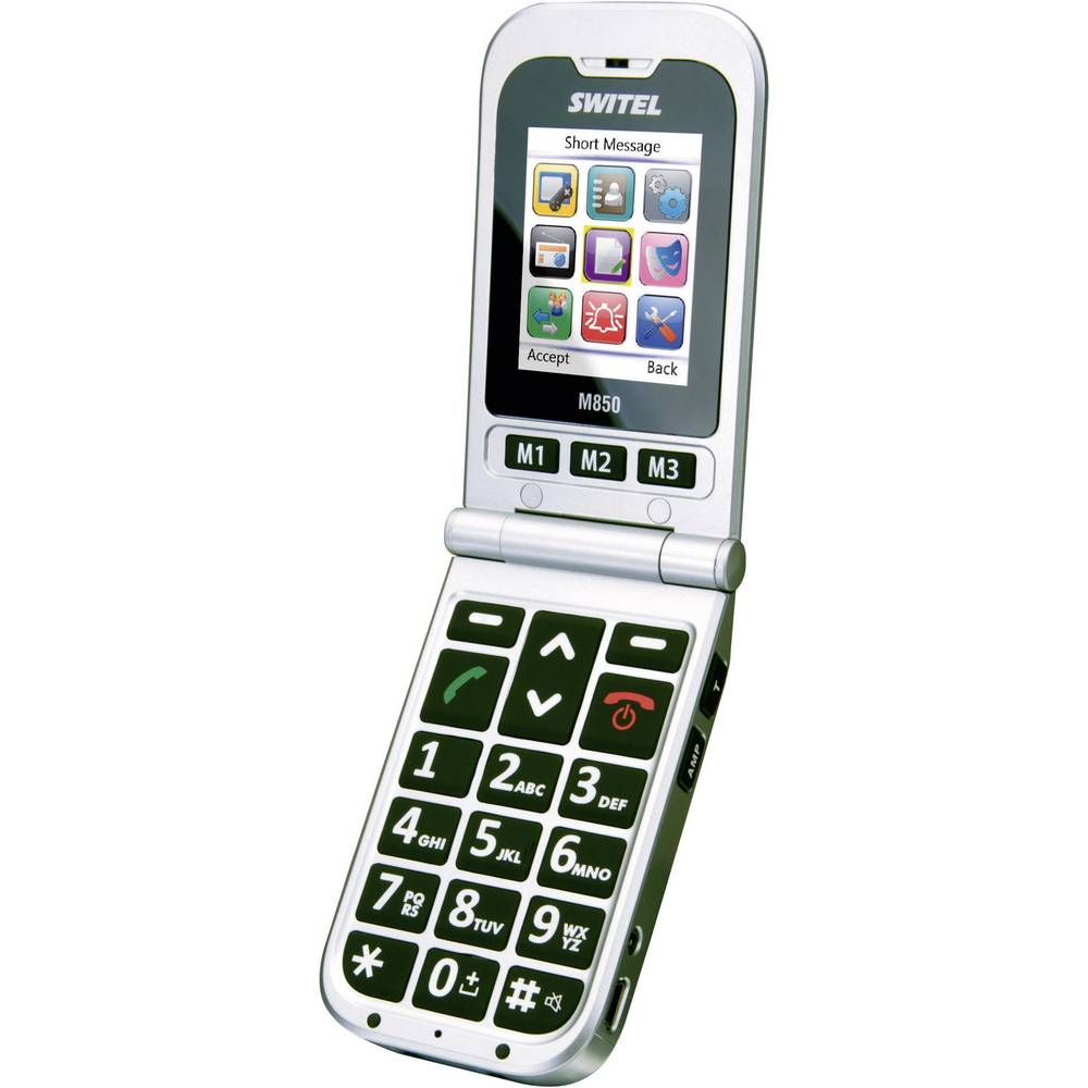 T l phone portable grandes touches switel m850 for Telephone portable a touches