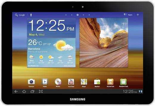 25.7 cm (10.1 Zoll) Weiß Android™ 3.1
