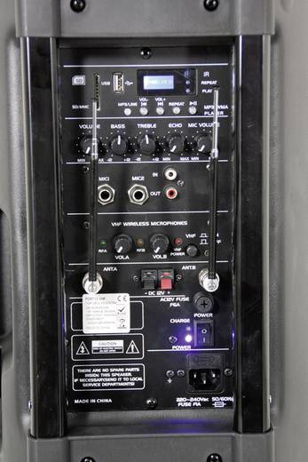 Ibiza Sound PORT15VHF Bluetooth Mobiler PA Lautsprecher 38 cm 15 Zoll 1 St.