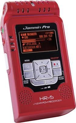Enregistreur audio stéréo pro PCM noir JamminPro HR5 Red