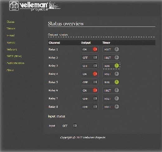 Relaiskarte Baustein Velleman VM201 12 V/AC